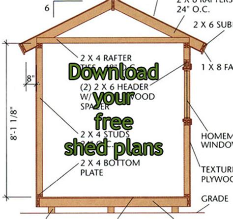 storage sheds outdoor free shed plan program