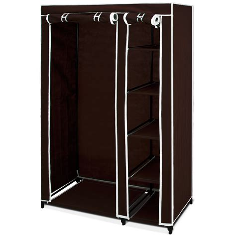 Sell Wardrobe by Canvas Wardrobe Clothes Storage Hanging Rail Shelf