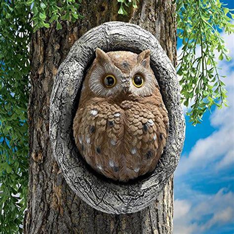 Dress Tosca Forest design toscano knothole owl tree sculpture