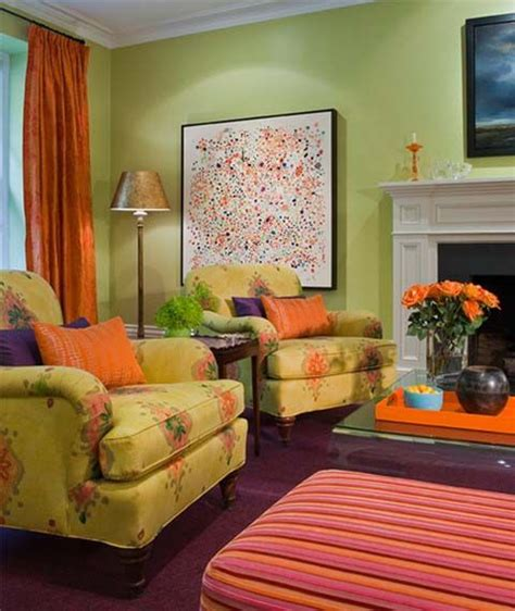 Bright Orange Room by 31 Best Orange And Green Living Room Images On