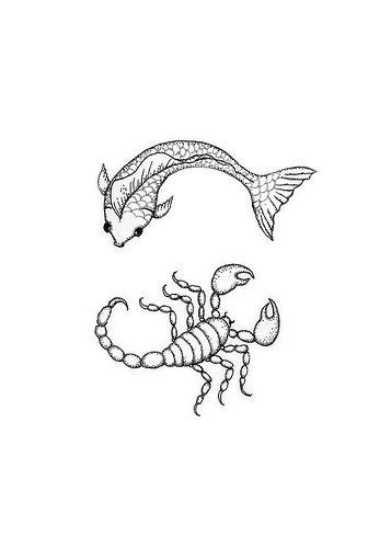 pisces aries cusp tattoo designs pisces and scorpio together tattoos aries cusp picture