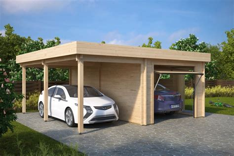 Garage With Carport by Combined Garage And Carport With Up And Doors Type H