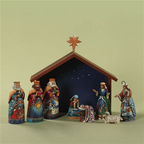 heartwood creek by jim shore 9 piece mini nativity set