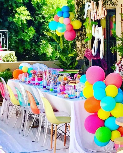 karas party ideas colorful modern  birthday party