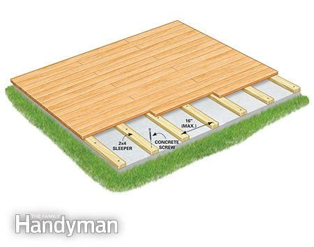 Leveling A Patio Base How To Build A Deck Over A Concrete Patio The Family