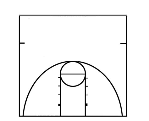 basketball court diagram best photos of half court basketball template