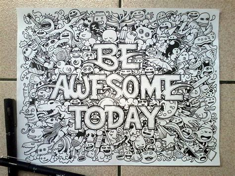 new doodle ideas doodle be awesome today by kerbyrosanes on deviantart