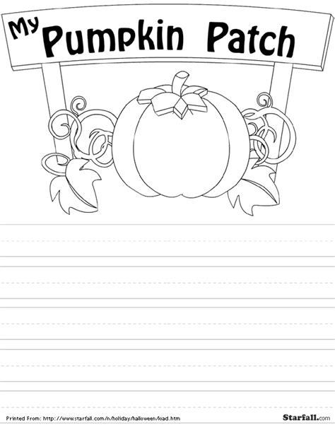 Starfall Printable Worksheets by Printouts Starfall Pumpkin Patch