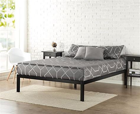 metal bed frame no boxspring needed zinus modern studio platform 3000 metal bed frame mattress