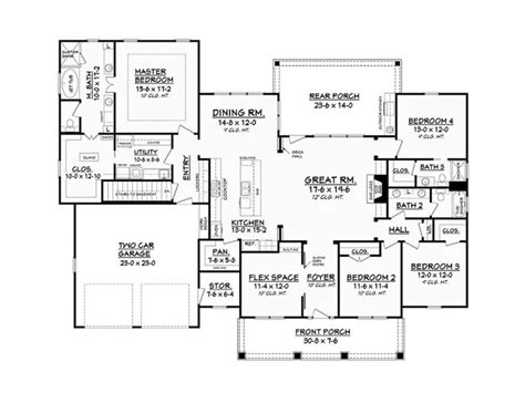 e plans ranch house plans eplans ranch house plan splendid craftsman sensational features 2639 square