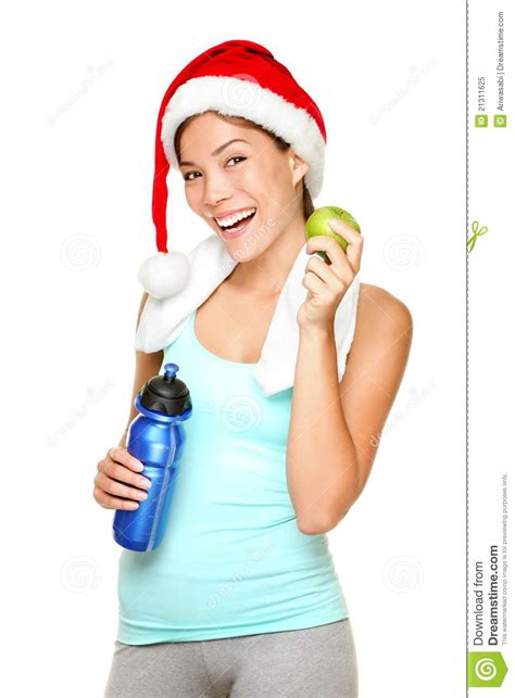 fitness christmas pics fitness stock image image of isolated 21311625