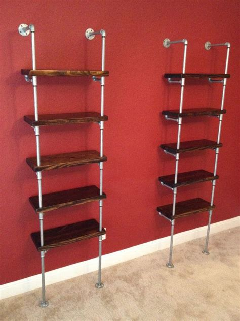 industrial pipe shelving unit furniture 48 quot wide