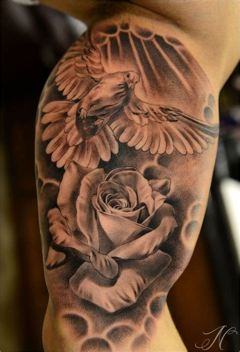 rose dove tattoo dove tattoos for dove tattoos and