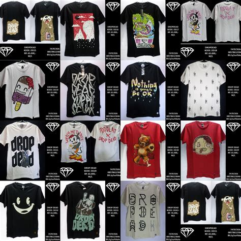 Tshirt Baju Kaos Drop Dead Yomerch 2 pin info dijual kaos sweater mancing batamfishing on