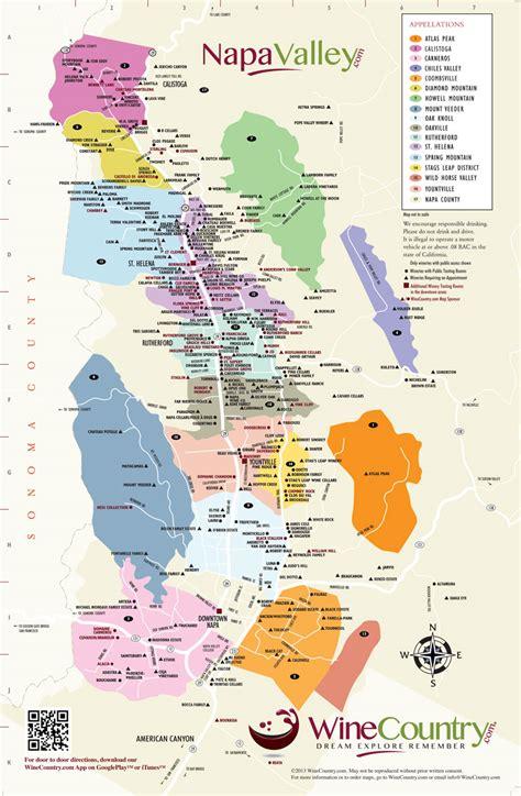 Napa Valley Wineries Map   NapaValley.com