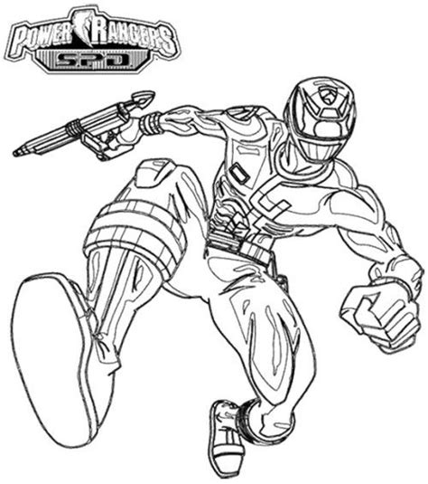 coloring pages of power rangers spd power rangers spd pursuing enemy coloring page kids