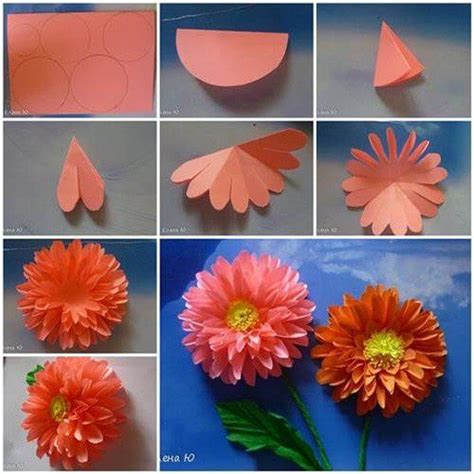 Paper Flower Steps - diy origami flowers step by step tutorials k4 craft