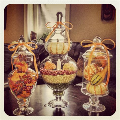 decorating with jars for fall fall apothecary jars