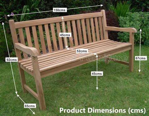 garden bench size solid teak 3 seat chunky park garden bench sale now on