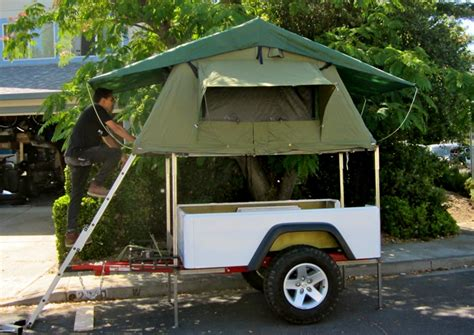 Jeep Trailer Tent Jeep Trailer With Roof Top Tent Lightweight Fiberglass