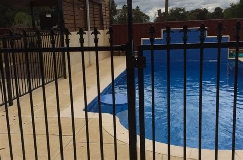 pool fence installation installing pool fencing panels aussie fencing