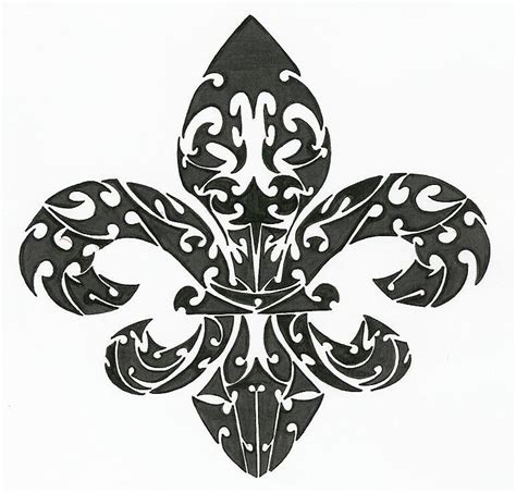 tribal fleur de lis tattoo fleur de lis tribal by sovereignimpresario on deviantart
