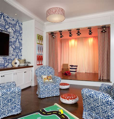 curtains for kids playroom playroom design transitional boy s room anik pearson