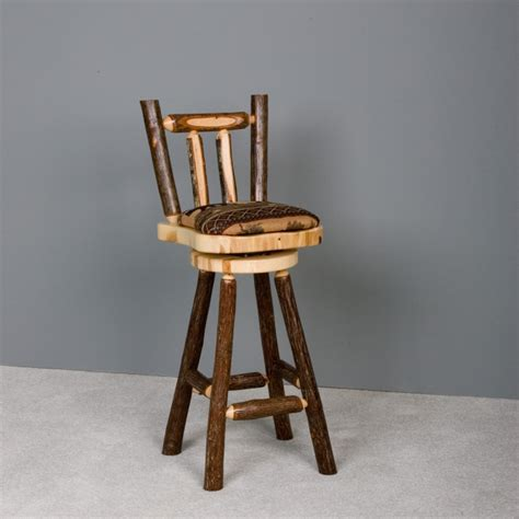 Fireside Lodge Bar Stools by Fireside Lodge Hickory Log Bar Stool With Arms