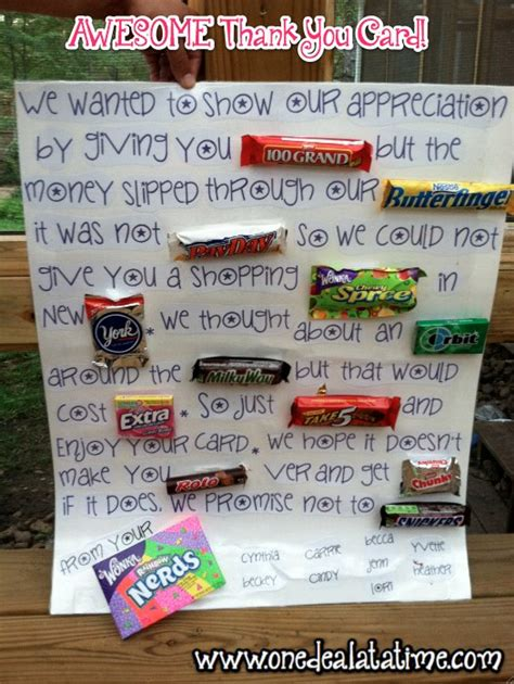 Does Cvs Have Gift Cards For Other Stores - awesome candy quot thank you quot card father s day gift idea mylitter one deal at a time