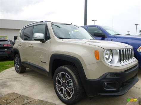 tan jeep renegade mojave sand 2015 jeep renegade limited 4x4 exterior photo