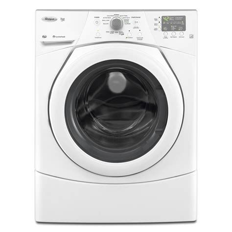 shop whirlpool duet 3 5 cu ft high efficiency stackable front load washer white at lowes com