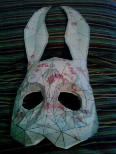 Splicer Mask Papercraft - bioshock bunny mask wip by picorchu on deviantart