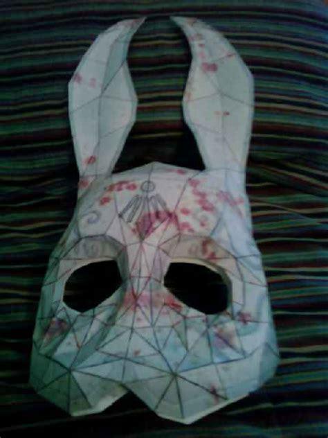 Splicer Mask Papercraft - bioshock bunny mask wip by picorchu on deviantart