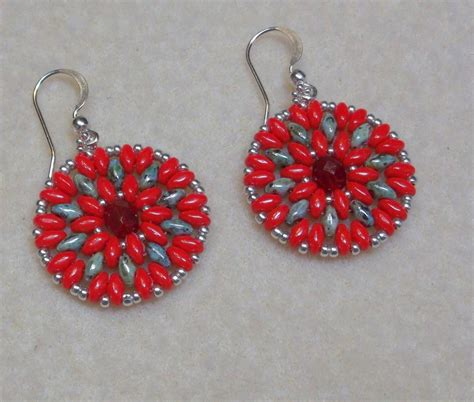 duo bead patterns duo mandala earrings by bethel anthony craftsy