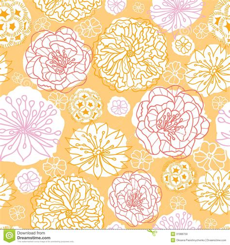flowers seamless pattern element vector background warm day flowers seamless pattern background royalty free