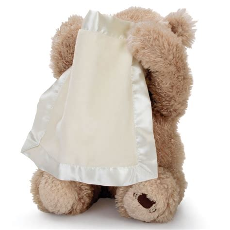 the peek a boo animated bear hammacher schlemmer