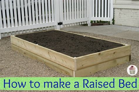 how to make a raised garden bed hoosier