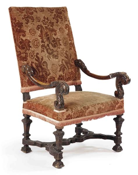 Louis Xiv Armchair by A Louis Xiv Walnut Highback Armchair Second Quarter 18th