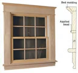 Wood windows wood window moldings