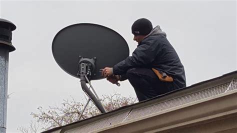 how to mount hdtv antenna to satellite dish no rewiring