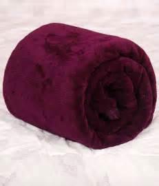 warm purple titlis zara warm snug deep purple double coral blanket