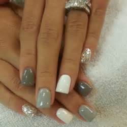 Grey and glitter nails pictures photos and images for facebook