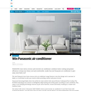 vp series air conditioner entry if world design guide leader win panasonic air conditioner competitions com au