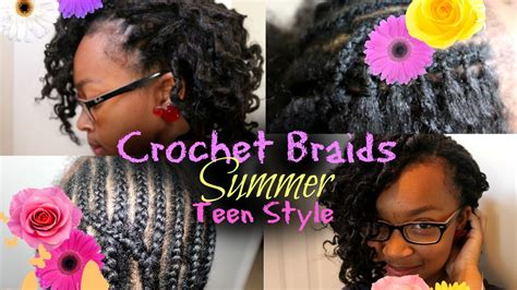 crochte weave for teens how to crochet braid for teen hairstyle youtube