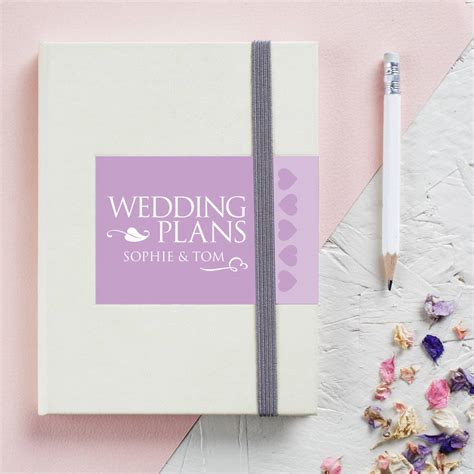 Wedding Notebook by Personalised Engagement Wedding Notebook By Gift