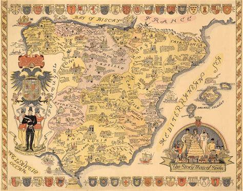 imagenes historicas españa the story map of spain la historia de espa 241 a en un solo