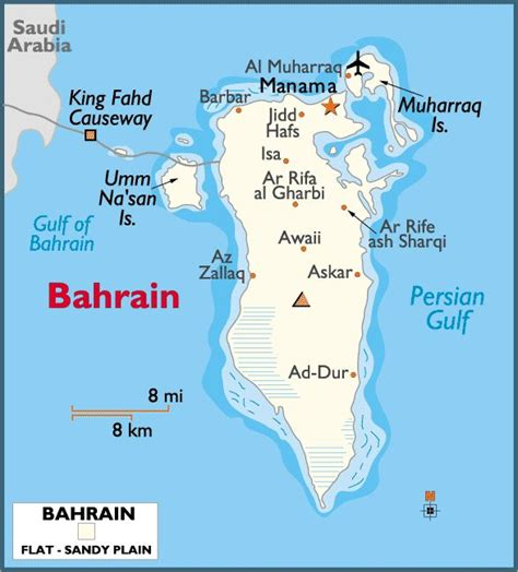 middle east map bahrain map of bahrain the middle east region their monarchs