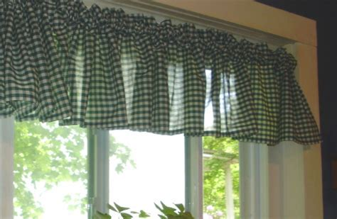 Hunter Green Gingham Kitchen/Café Curtain (unlined or with