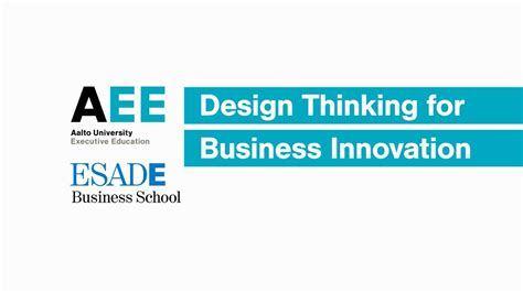 design thinking understand improve apply design thinking for business innovation aalto ee