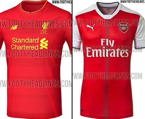 Arsenal Home Season picture special the arsenal and liverpool home kits